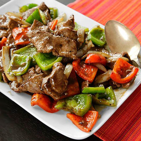 Beef with Green Pepper and Black Bean Sauce