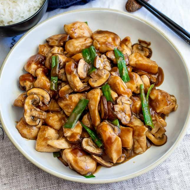 Chicken with Fresh Mushroom
